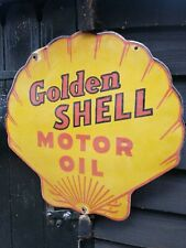 Shell enamel sign shell Motor oil enamel sign shell porcelain enamel sign