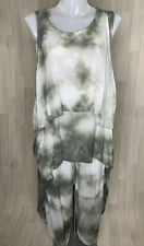 ITALIAN • White And Grey 3 Piece Lagenook Outfit Top & Trousers • Size Small