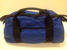 EDDIE BAUER Outdoorsman All Nylon Rucksack Duffle Travel Gym Bag Blue