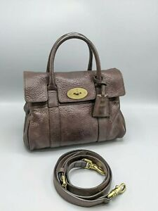 Mulberry Small Bayswater Satchel Chocolate Brown Leather
