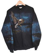 Vintage Art Unlimited Sportswear Sweatshirt All Over Print Bald Eagle RARE, XL