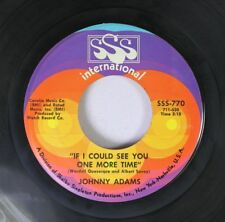 Soul 45 Johnny Adams - If I Could See You One More Time / Reconsider Me On Sss I
