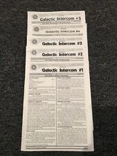 Galactic Empires CCG Galactic Intercom Newsletter #1 - #5 Repro - Mint Free Ship