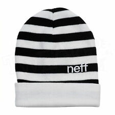 NEFF BUMBLE CAP BEANIE WHITE/BLACK ONE SIZE FITS ALL BRAND NEW