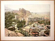GÉORGIE Ruines de la forteresse de Tbilissi Caucase - Photochromie fin 19ème
