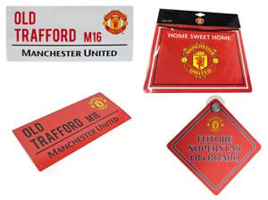 MANCHESTER UNITED FC Metal Sign Stadium Street Bedroom Window Retro Gift