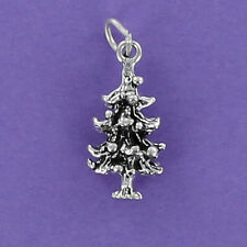 Pine Tree Charm Sterling Silver 925 for Bracelet Forest Redwood Mountains Cone