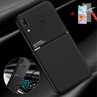 For Samsung Galaxy A20 Slim Shockproof Hybrid Case Cover + Free Tempered Glass