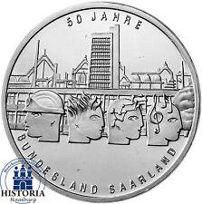 Deutschland 10 Euro Silber 2007 bfr 50 Jahre Bundesland Saarland in Münzkapsel