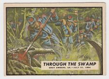 1962 TOPPS CIVIL WAR NEWS CARD #73 THROUGH THE SWAMP
