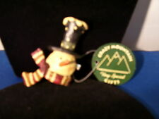 Christmas Pin Snowman with Stovepipe Hat Retired By Crazy Mountain Inc 3