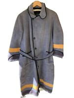 Vintage West Point USMA Cadet Wool Bath Robe Gray 1940s 50s Army