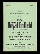 1964 ROYAL ENFIELD MODEL 250cc CLIPPER & TURBO TWIN. MOTOR CYCLE  PARTS MANUAL