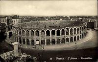 Verona Italien Italia s/w Postkarte ~1940 L'Arena Prospettiva Platz an der Arena