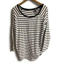 MOTHERHOOD OH BABY MATERNITY Black White  STRIPE  -SIZE XL Long Sleeve Knit Top