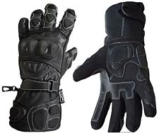 Waterproof Thermal Winter Polar Force Leather Motorcycle Motorbike Gloves L