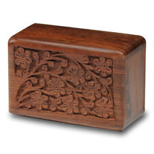 Rosewood Cremation Urn - 2nd Quality - Bargain! - Ex-Small Size - Tree of Life