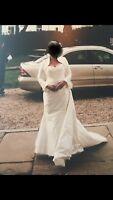 Pronovia Ivory Wedding Dress. Size 14. Used.