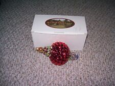 MACKENZIE-CHILDS CHRISTMAS RED RUSSIAN JEWEL ORNAMENT POLAND HAND PAINTED