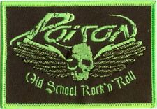 Poison Old School Embroidered Iron On Patch Glam hard rock heavy metal michaels
