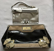 River Island Black See Through Clutch Bag With Silver Detachable Purse Clip Top