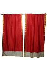 Curtain Sari Drape Pair Red Window Treatment Bollywood Style Party Decor