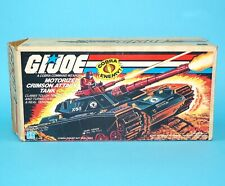 1985 GI JOE C.A.T. CRIMSON ATTACK TANK 100% COMPLETE BOXED SEARS BOX WORKS!