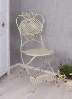 Metallstuhl Antik Stuhl Shabby Chic Gartenstuhl Balkonstuhl Eisenstuhl Sessel