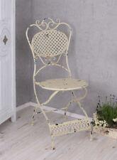 Chaise de jardin pour Terrasse blanc FER Pliante balcon Vintage
