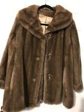 Handtailored Faux Fur Coat S-M Brown