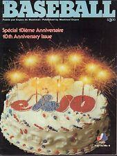 Montreal Expos Baseball Magazine 10th Anniversary 1978 072817nonjhe