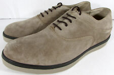 FitFlop Mens Lewis Suede Lace Up Oxford Sneaker Shoes, Pebble, US 10