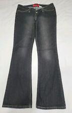 Vintage Levi's 520 TOO SUPERLOW Black Button Fly Low Rise Bootcut Jeans Size 9