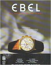 ▬► PUBLICITE ADVERTISING AD Montre Watch  EBEL Chronographe 1985