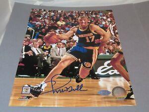 Chris Mullin Signed Golden State Warriors 8x10 Photo Auto Steiner Sports COA 1C