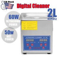 2L 50W Stainless Steel Digital Ultrasonic Cleaner Ultra Sonic Bath Heater Timer