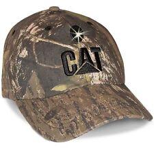 Caterpillar Cat Baseball Style Cap w/LED Light Mossy Oak Camo