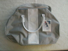NWT VINCE CAMUTO WEEKEND BAG DUFFLE LARGE SILVER GREY GYM TRAVEL NEW WEEKENDER