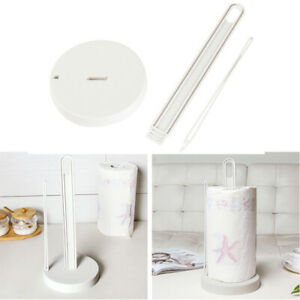 Kitchen Plastic Paper Towel Roll Holder Stand Rack Free Standing 33CM Detachable