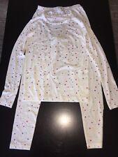 HeatLite Thermal Base Winter Shirt & Pant Set Long Underwear White Stars Medium