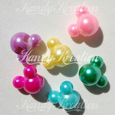 10 Mickey Mouse Pearl Beads for Bubblegum Necklaces Deadmau5 Pony Crafts Disney