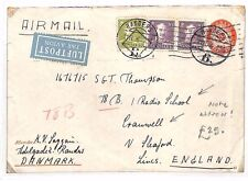 BF163 1946 DENMARK Rangers STATIONERY Airmail GB Lincs RADIO SCHOOL