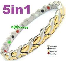 Magnético Imán abeto energía Germanio Amplificador De Potencia Pulsera salud 5in1 Bio Brazalete De Jade