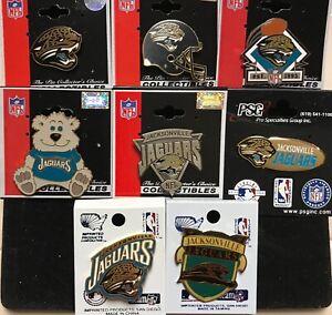 Set of 8 Jacksonville Jaguars Vintage Logo Collectors Pins BLOWOUT PRICE