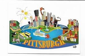 2PC~ARTIST'S VISION OF & PITTSBURGHESE,YINZ TALK LIKE A PIXBURGER~PITTSBURGH,PA