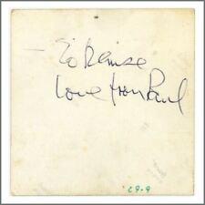 Paul McCartney 1967 Signed Vintage Snapshot Photo Obtained By Lizzie Bravo (UK)