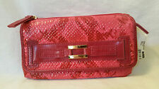 NWT Rolf's Savvy Clutch Briani Rasberry with Removable Checkbook