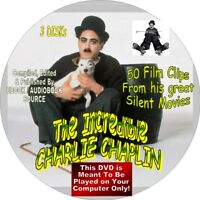 CHARLIE CHAPLIN - 50 SILENT FILMS - 3 DISKS - THE TRAMP -HUMOR, COMEDY, SLAPSTIK