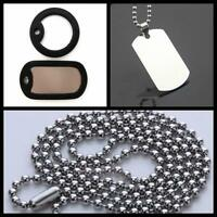 Mens Necklace Pendant Military Army Dog Tag Steel Stainless