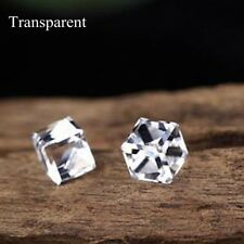 Fashion Jewelry Colorful Cube Crystal Rhinestone Avoid Allergy Ear Stud Earring